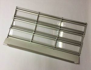 Aluminium Roller Grilles with Acrylic Strips