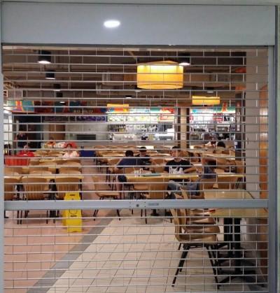 Food Court Aluminium Roller Grilles