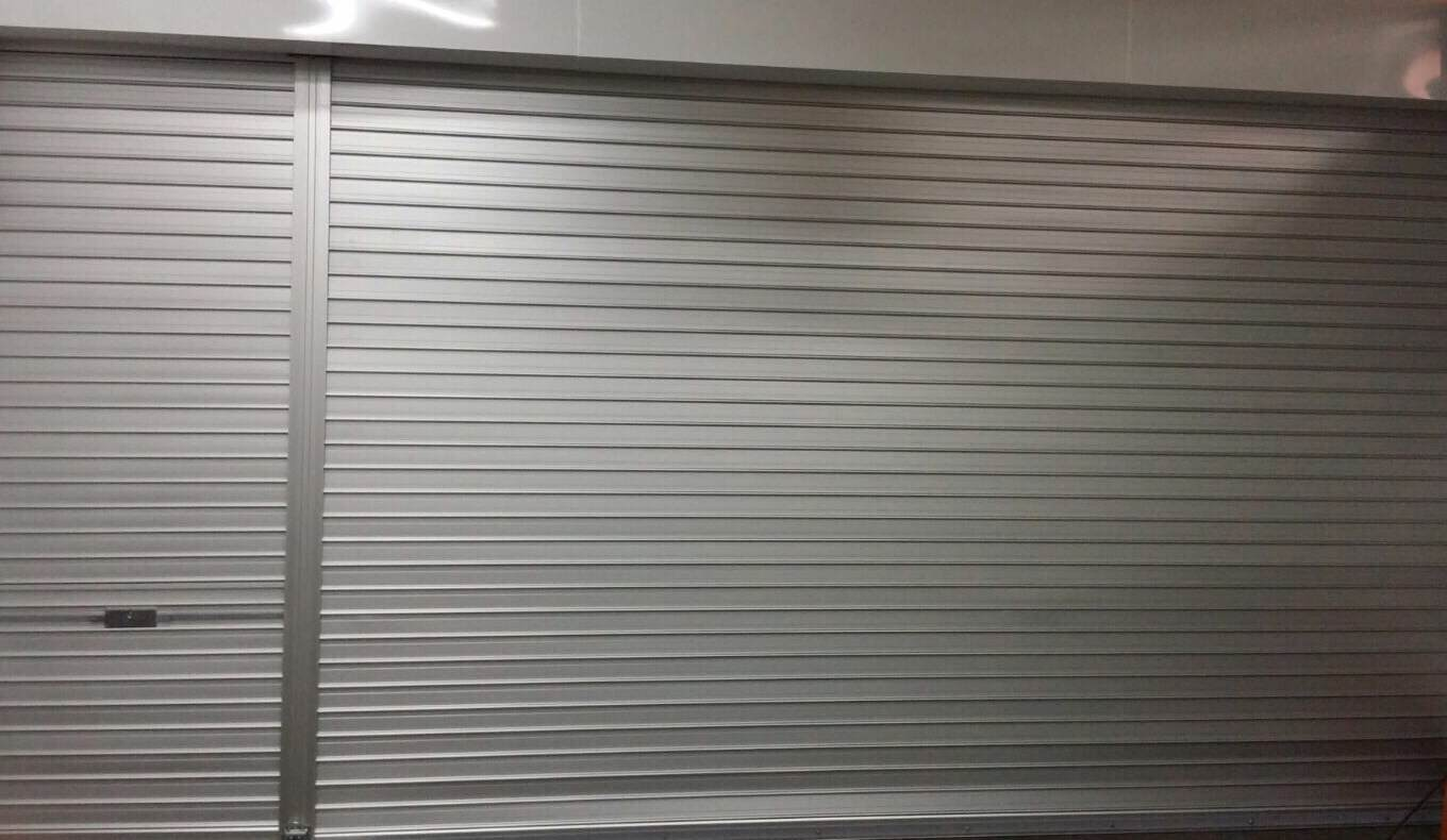 Motorized And Manual Aluminium Shutters Installed For Workshop
