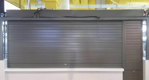 Hawker Centre Powder Coated Aluminium Roller Shutters