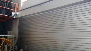 Motorized Roller Door Replaced by Aluminium Roller Shutter
