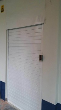 Motorized White Aluminium Roller Shutters