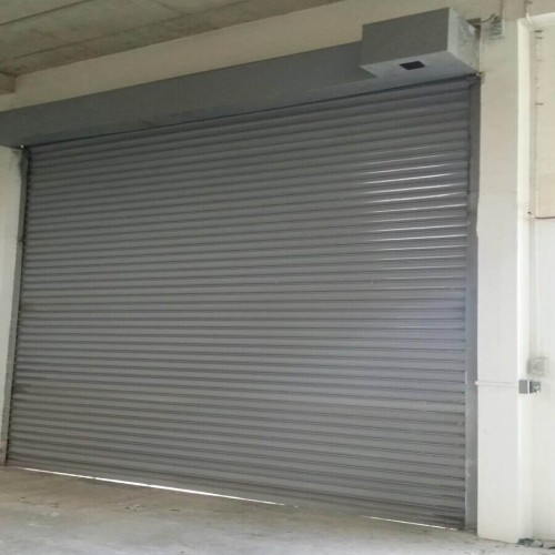 Tuas Factory Steel Colorbond Roller Shutters Repaired