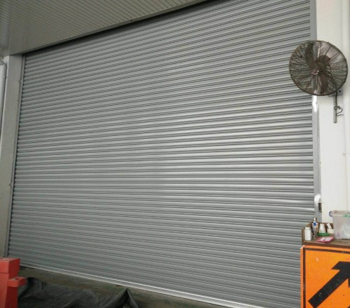 Motorised Steel Roller Shutters for Marsling Factory