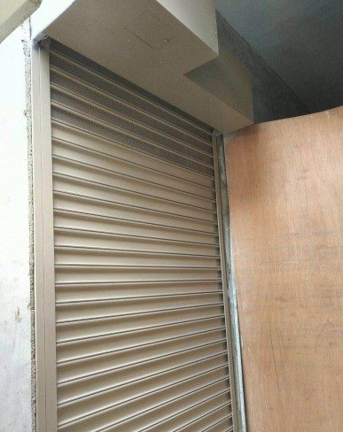 Motorised Powder Coated Aluminium Shutters at Dorset Road