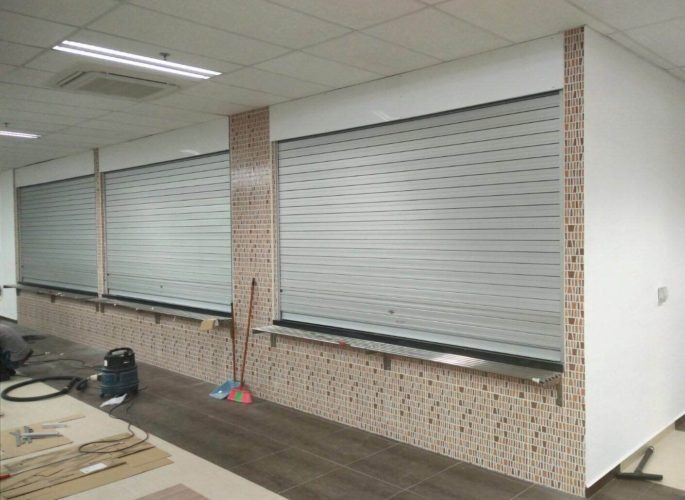 3 Panels of Aluminium Shutters for Loyang Way Bus Depot