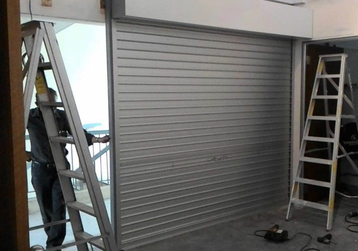 Manual Aluminium Shutters at Geylang East Industrial Estate