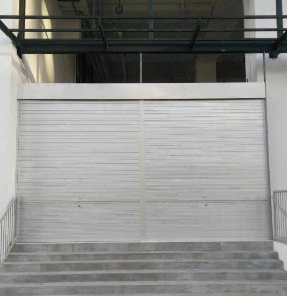 7 Panels of Aluminium Shutters Installed for Food Court Located at Senoko South Road