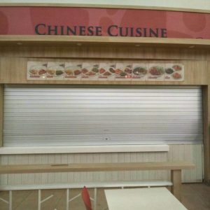 Dismantled Roller Door and Replaced with New Aluminium Roller Shutters for NTU Canteen