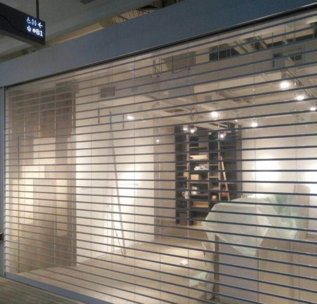 Motorised Multi Vision Panel Shutters (MVPS) at Holland Village Retail Shop (Raffles Medical)