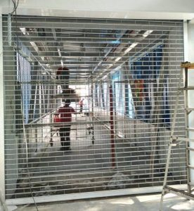 Two New Sets of Motorised Aluminium Roller Grilles at Singapore Polytechnic Entrance