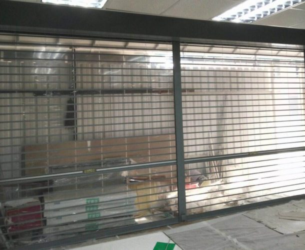 Brand New Powder Coated Polycarbonate Multi Vision Panel Shutters for Kampong Glam Hong Lim Residents' Committee