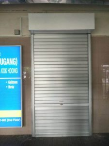 Supplied and Installed Manual Aluminium Roller Shutters for Hougang Clinic Entrance