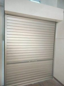 Installation of Manually Operated Aluminium Roller Shutters for TV film and Video Production Company Completed