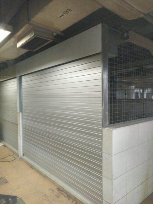 Manual Shutters and Wire Mesh Completed for Retail Shop at Market and Food Centre