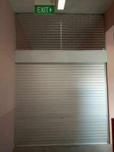2 Sets of Aluminium Roller Shutter with Fixed Grille Installed for Primary School in Compassvale