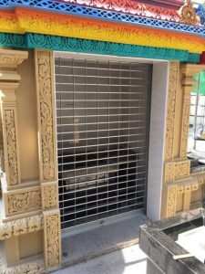 3 Sets of Aluminium Roller Grilles Supplied and Installed for Temple at Serangoon Road