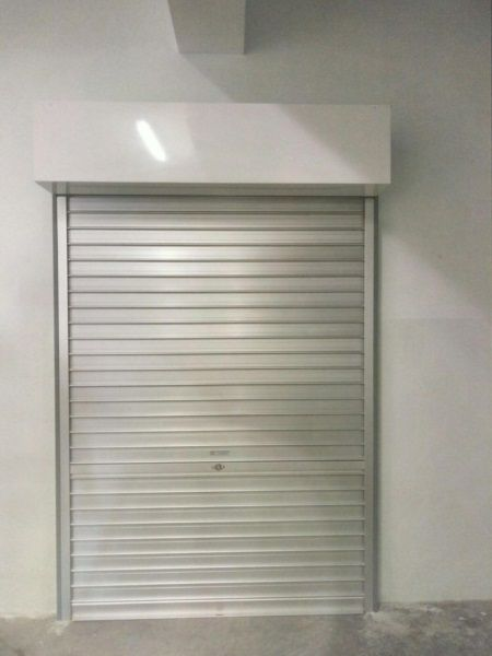 Manually Operated Aluminium Roller Shutters Installed for Staff Office Entrance for Secondary School