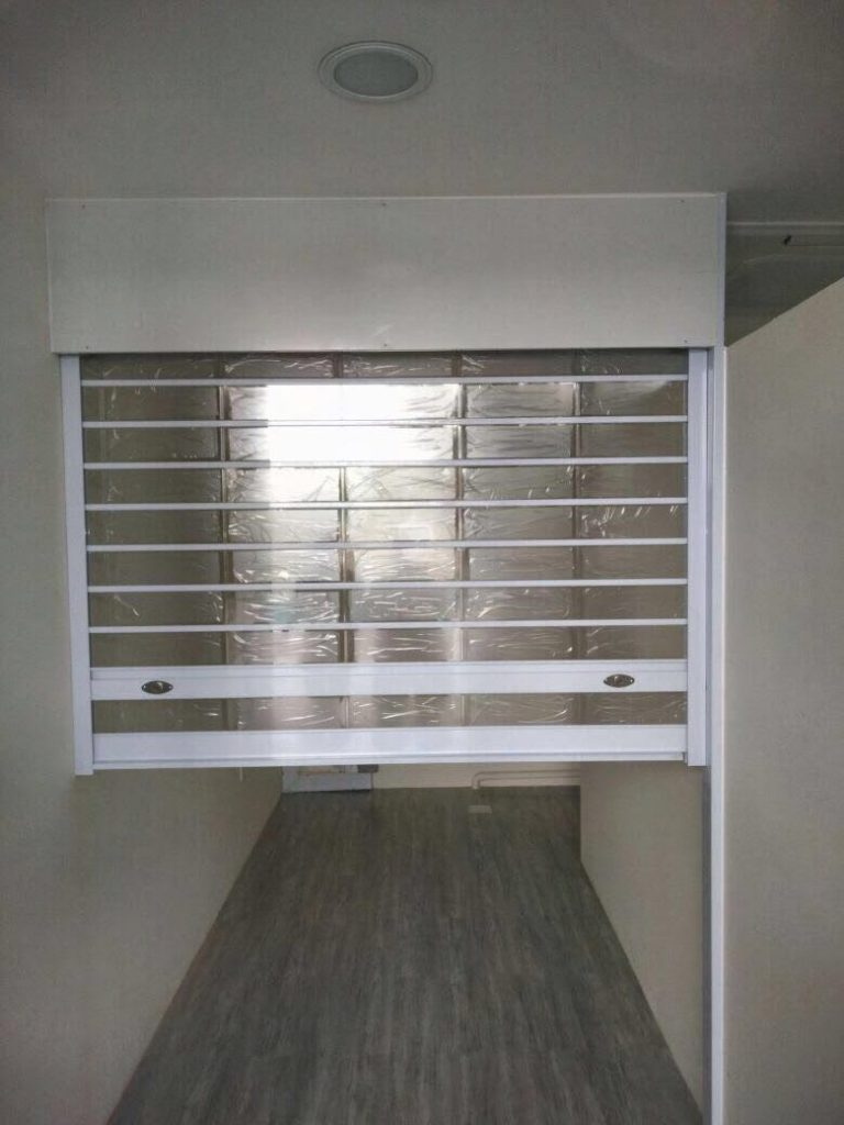 Multi Vision Panel Shutters for Counter Top for Condominium Office in Jurong