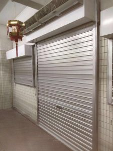 Dismantled Old Steel Door and Installed Aluminium Roller Shutters for Main Entrance & 2 Side Windows
