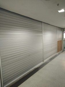 Manually Operated Aluminium Roller Shutters for Entrance and Counter for Restaurant at The Plaza (Beach Road)