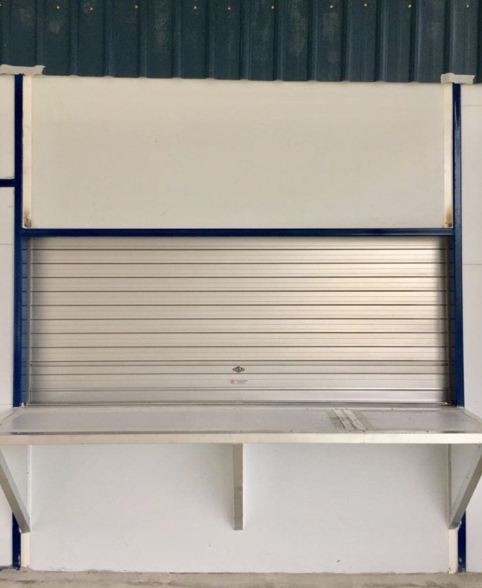 3 Sets of Manually Operated Aluminium Roller Shutters for Counter at Hougang Bus Depot Canteen