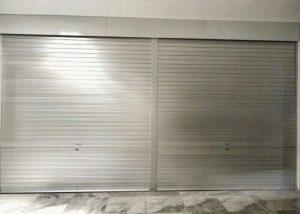 Manually Operated Aluminium Roller Shutters Installed for F & B Restaurant at CT Hub, Kallang