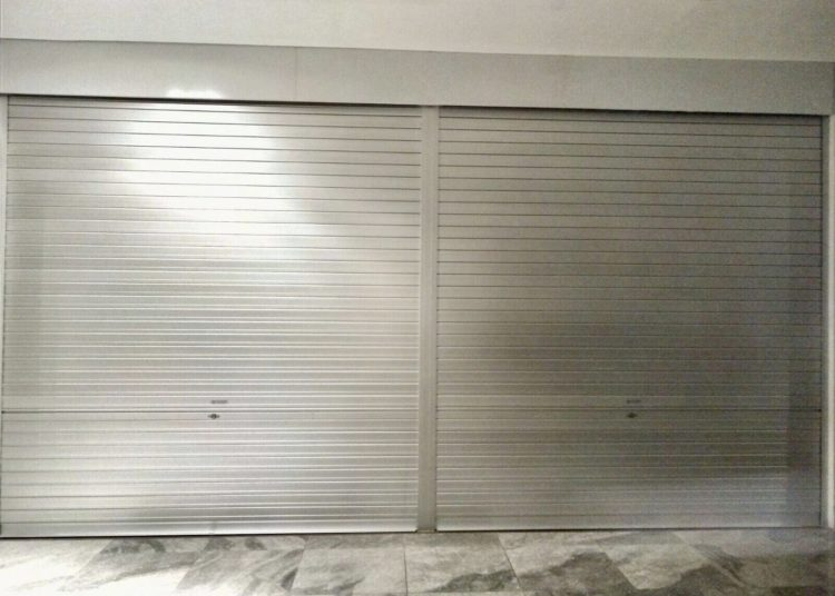 Manually Operated Aluminium Roller Shutters Installed for F & B Restaurant at CT Hub, Kallang