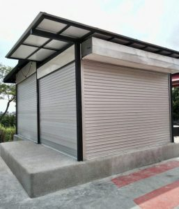 Motorised Operated Aluminium Roller Shutters for Extension of Existing Outdoor Stage at Cosford Road
