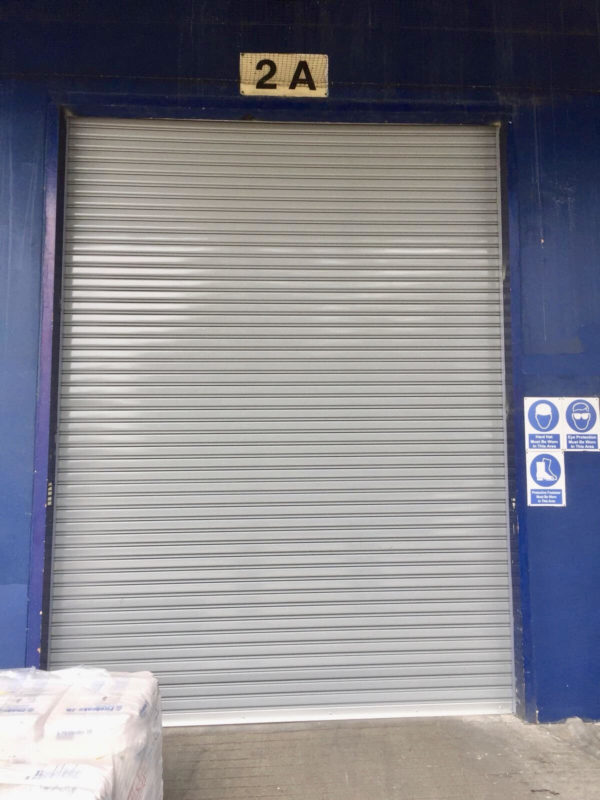 Two Sets of Motorised Operated Steel Roller Shutters for Warehouse Extension at Tanjong Penjuru Crescent