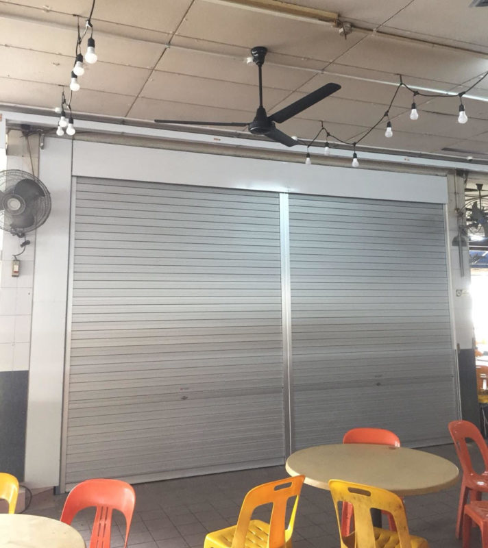 4 Sets of New Manually Operated Aluminium Roller Shutter (Natural Anodised Finishing) for Canteen at Third Lok Yang Rd (total of 8 panels with removable center mullion)
