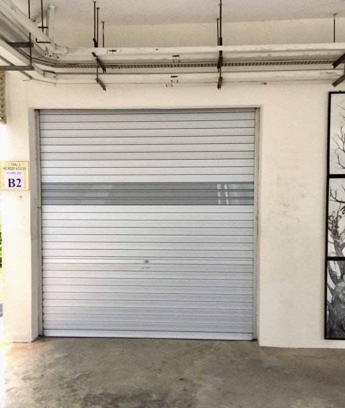 Supply and Install Aluminium Roller Shutters with Powder Coated See-Through Perforated Slats for Secondary School