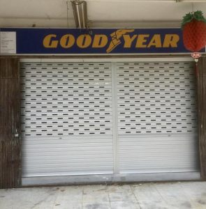 New Set of Manually Operated Aluminium Roller Shutter with Ventilation Holes Supplied & Installed for Shop at Jalan Kayu Shophouse