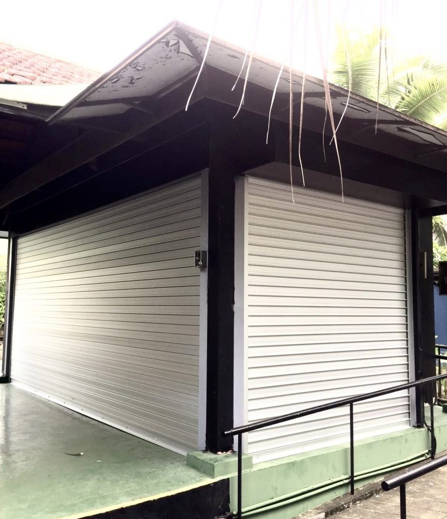 What are roller shutters made of